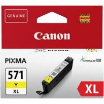 Cartus Cerneala Original Canon Yellow, CLI-571XLY, pentru MG5750/5751/6850/6851/7750/7751/7752/TS5050/6050/8050/9050, 11ml, BS