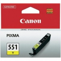 Cartus cerneala Original Canon CLI-551Y  Yellow, compatibil IP7250/MG5450/MG6350, ~330 pag BS6511B001AA