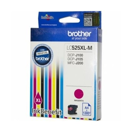 Cartus cerneala Original Brother LC525XLM Magenta, compatibil DCPJ100/DCPJ105/MFCJ200, 1300 pag. LC525XLM