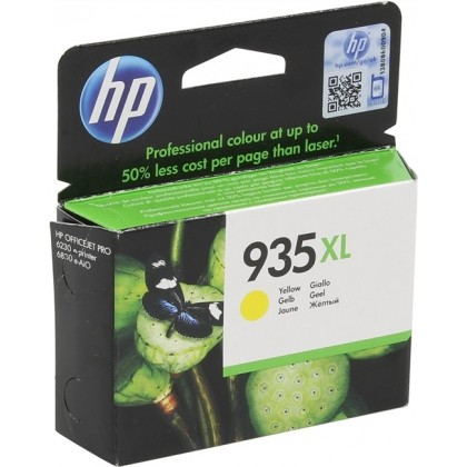 Cartus cerneala Original HP C2P26AE Yellow 935XL, compatibil OfficeJet Pro 6830, 825pag C2P26AE