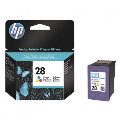 Cartus cerneala Original HP C8728AE Tri-color 28, compatibil DJ3320/3xxx/OF4100/42xx/PSC1215/1317/2150, 8ml, 190pag C8728AE
