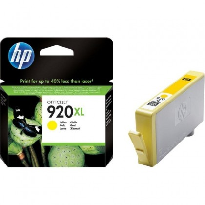 Cartus cerneala Original HP CD974AE Yellow 920XL, compatibil OfficeJet 6000/6500/7000/7500, 700pag CD974AE
